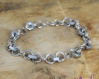 Hex Nut Bracelet Upcycled Nickel Free
