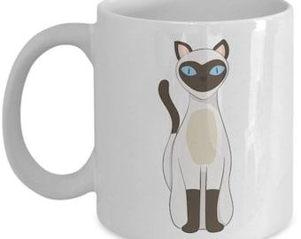 Siamese Cat Mug - Gift for Cat Lover