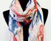 Pashmina Scarf Pashmina Shawl Floral Pashmina Floral scarf Viscose Scarf Spring Scarf Stole Headscarf Hijab Scarf Mom gift