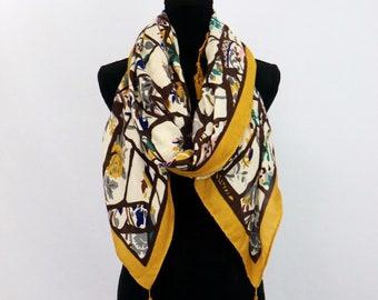 d0d11cf048e1 Tassel printed scarf, women scarf, ladies scarf, foulard femme, autumn  scarf, Christmas gift