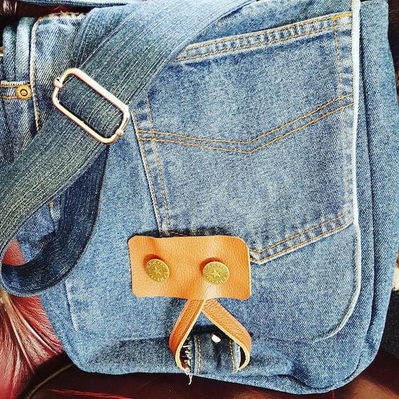 9901fb9a85e96 Unisex Się Z Cyklu Torebki Dżinsowe Cross Body Bag Torba Etsy