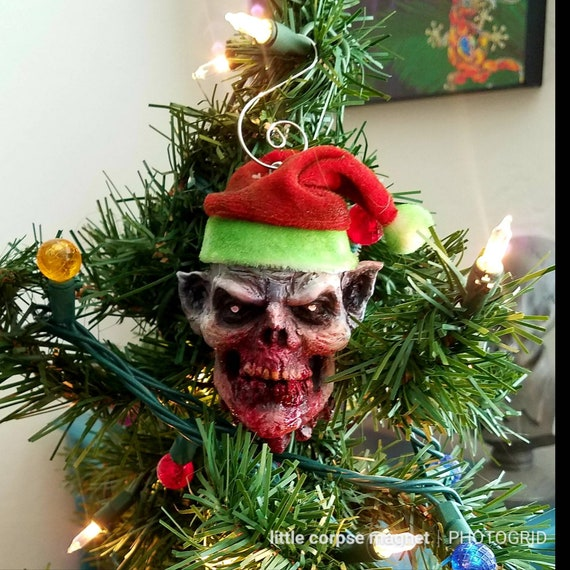 Bloody Christmas Tree.Angry Elf Bloody Christmas Tree Ornament