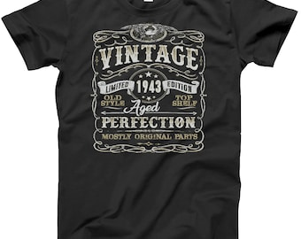 75th Birthday Gift Shirt | Vintage 1943 | Funny | 75 Years Old | Born in 1943 | Gift For Him | Christmas or Birthday Gift | 75th