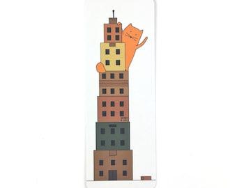 Cat Bookmark - Box Tower