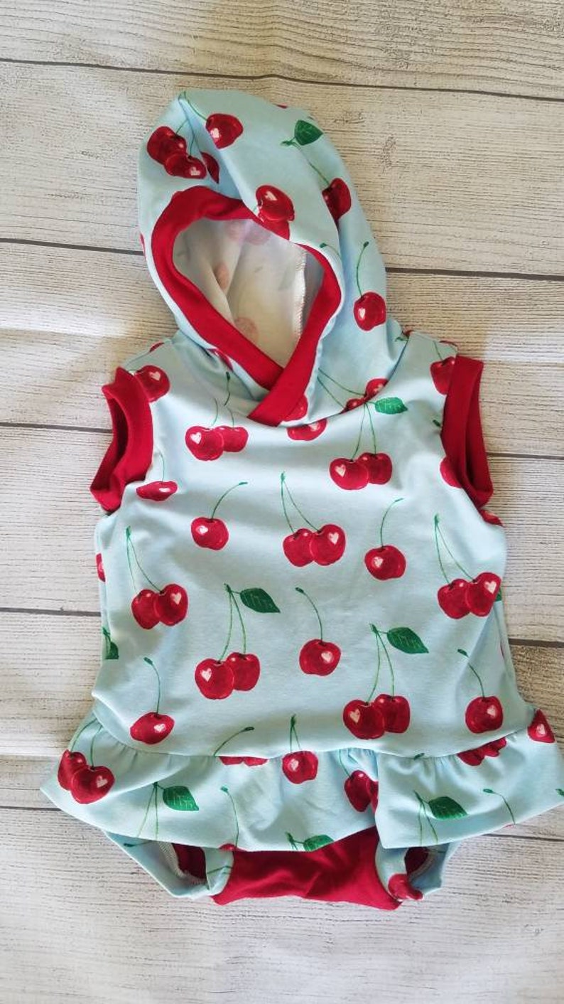 READY TO SHIP!! cherries summer Snapless romper.