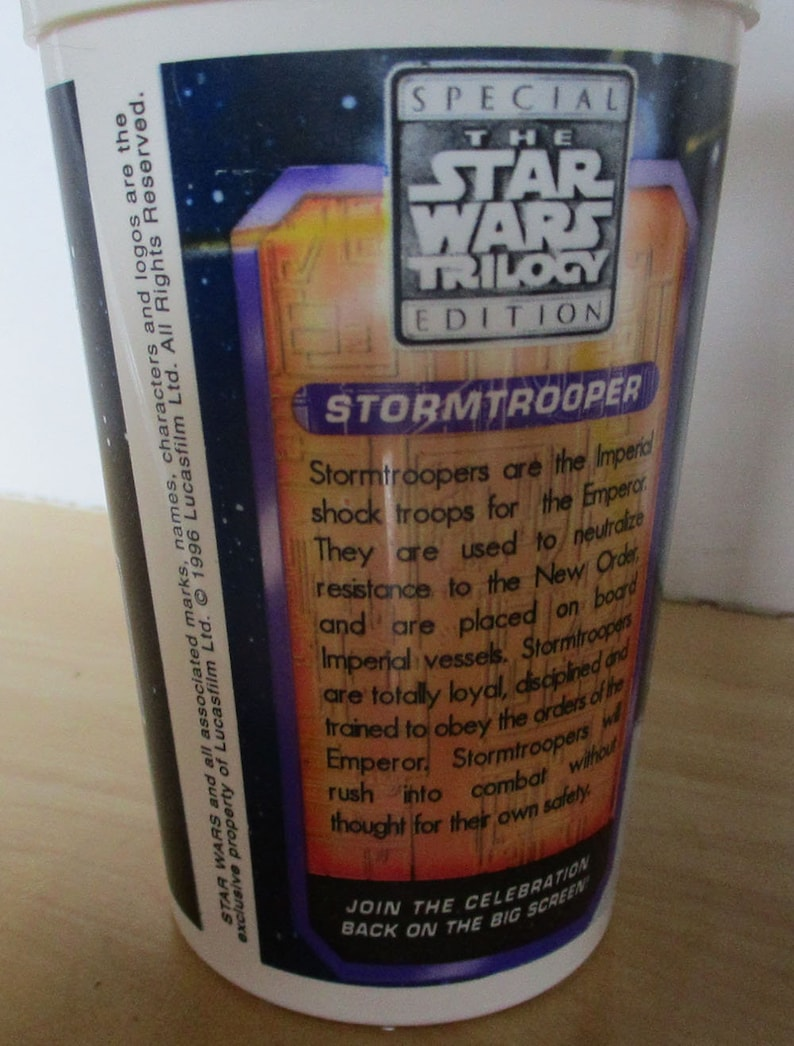 Trilogie Des Wars 1996Taco Souvenirs Vintage Food Vader Star Fast TrooperC 3poDarth ToppersCoupes PaillesStorm Bell Avec vN0wmn8