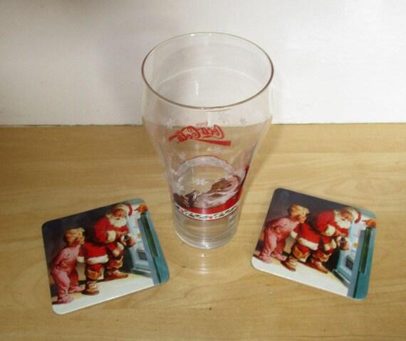 COCA COLA SANTA CLAUSE CHRISTMAS TALL SHOT GLASS