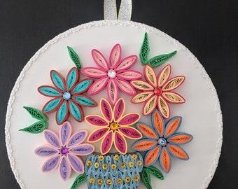Handmade Quilling Artwork - Wall Hanging - Gift -Housewarming