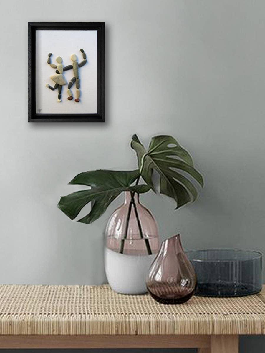 art et galets couple de danseurs cadeau original pour les etsy. Black Bedroom Furniture Sets. Home Design Ideas