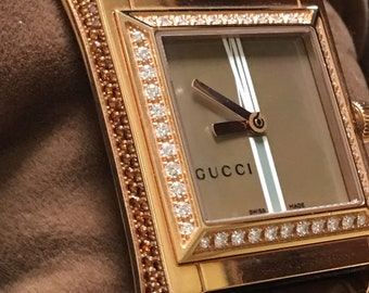 ed171e0fe515 Rose Gold. Gucci Diamond Watch. Unworn in Original Box with Booklet. 100%  Genuine