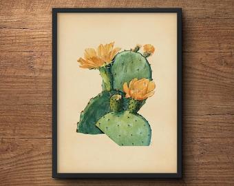 Cactus poster, Cactus print, Large cactus print, Cactus wall art, Cactus artwork, Botanical print, Botanical art, Cactus art, Wall art