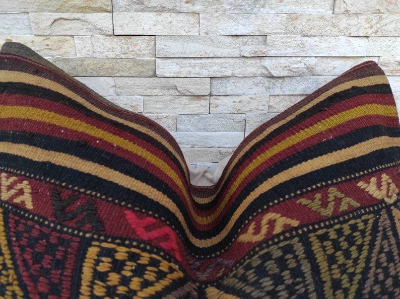 Kilim cushion Kilim pillow cover Boho pillow Decorative pillow Home living Turkish pillow 16\u00d724 inchs Wintage pillow Kilim pillow