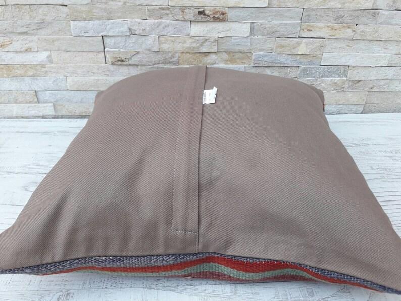 16x16 kilim pillow cover,turkish kilim pillow,turkish pillow,vintage pillow,decorative pillow,pillow,bohemian pillow,kilim cushion cover