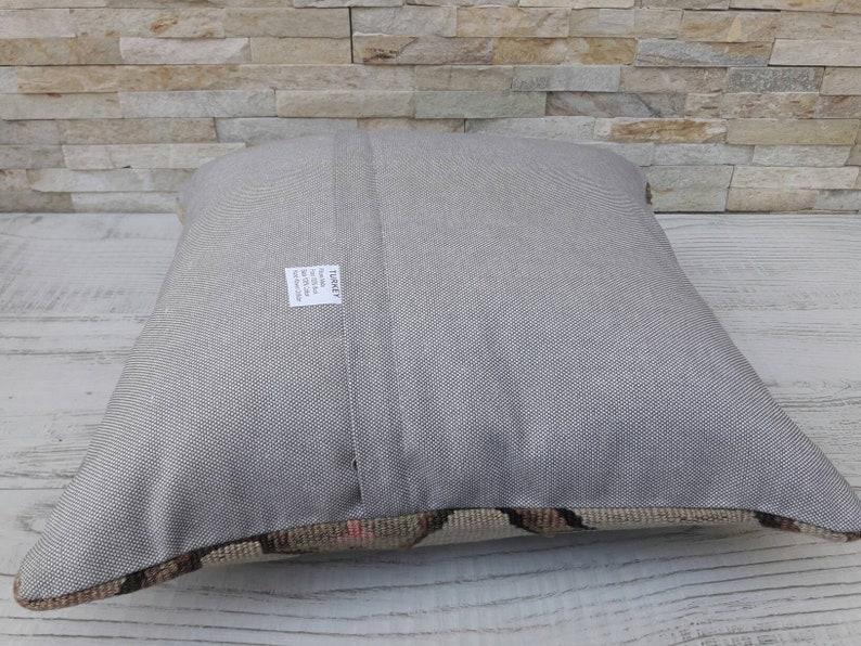 Vintage Kilim Pillow Kilim Cushion Bohemian Pillow Kilim Pillow 16x16inch 40x40cm Handwoven Pillow Cushion Cover