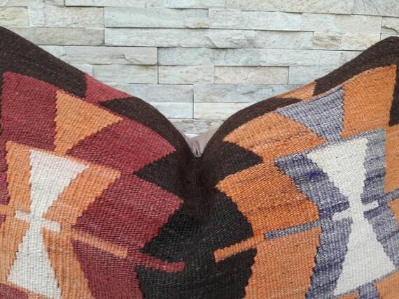 16 x 24, housse de coussin Kilim oreiller Boho, maison vivant, oreiller sovietique ancienne, Home design, coussin décoratif, coussin turc, coussin Kilim