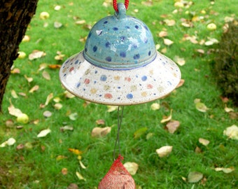 dumpling holder ON ORDER, turquoise blue, confetti, pottery