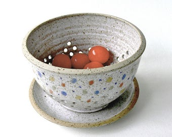 small fruit sieve with plate - confetti