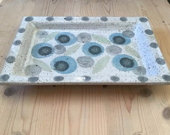 Serving tray,potted,handmade