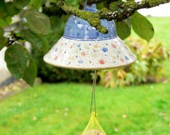 dumpling holder, blue, confetti, potted
