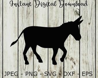 donkey svg etsy