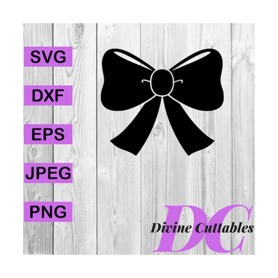 Buy 3 Get 1 Free Bow Cheer Bow Hair Bow Silhouette Clipart Etsy