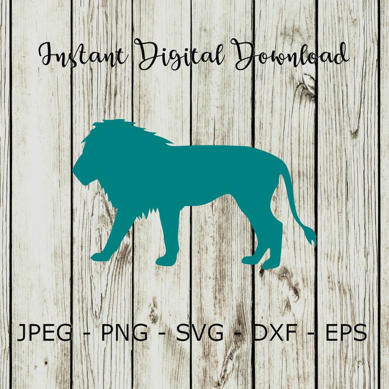 Buy 3 Get 1 Free Lion Silhouette Animal Clipart Digital Cut Etsy