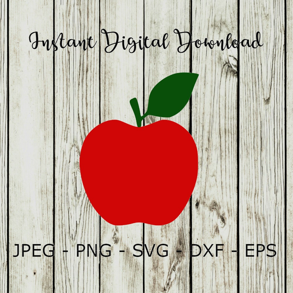 Buy 3 Get 1 Free Apple Fruit School Silhouette Clipart Etsy