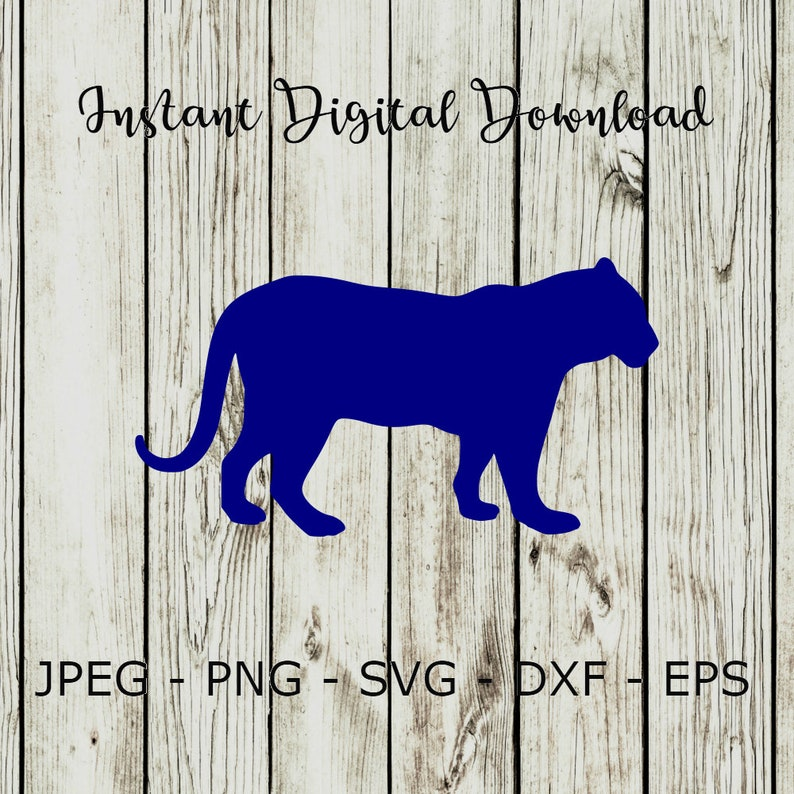 Buy 3 Get 1 Free Tiger Silhouette Animal Clipart Digital Cut Etsy