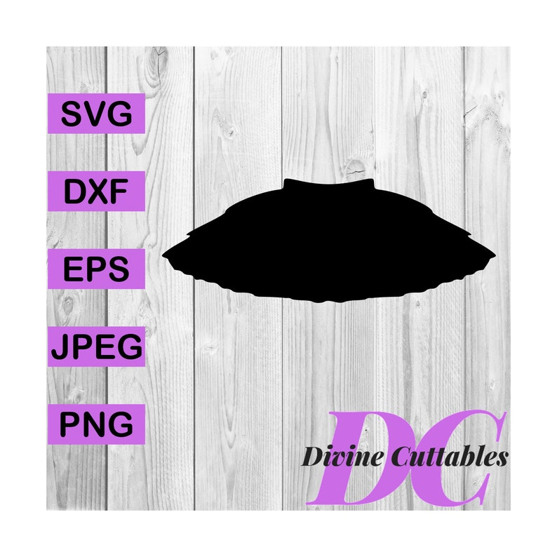 BUY 3 GET 1 FREE  Tutu Clipart Digital Cut File Design Decal Template  Vector Svg,Dxf,Png,Eps
