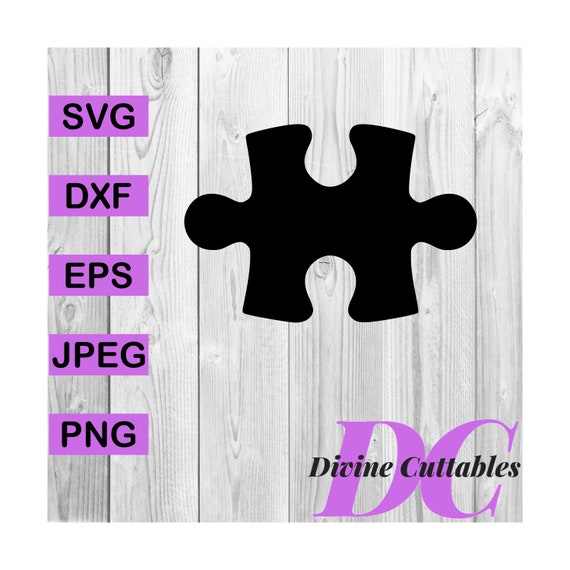 BUY 3 GET 1 FREE   Puzzle Piece Vector Cut File Cricut Design Silhouette  Decal Svg,Dxf,Png,Eps