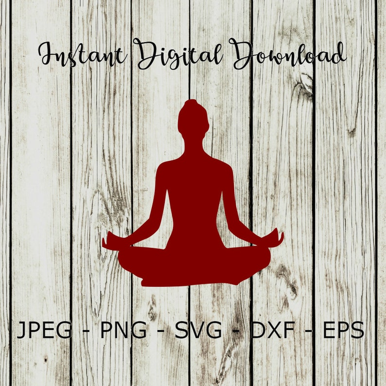 BUY 3 GET 1 FREE  Yoga Poses Silhouette Clipart Digital Cut File Design  Decal Stencil Template Vector Svg,Dxf,Png,Eps