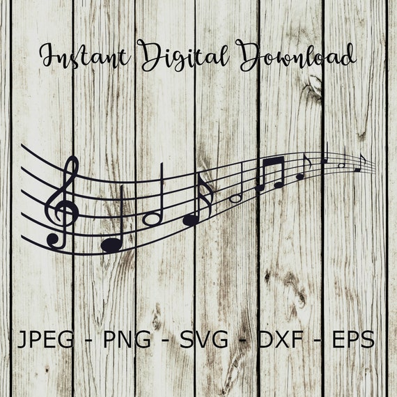 Buy 3 Get 1 Freesheet Music Notes Clipart Digital Cut File Design Decal Stencil Template Vector Svgdxfpngeps