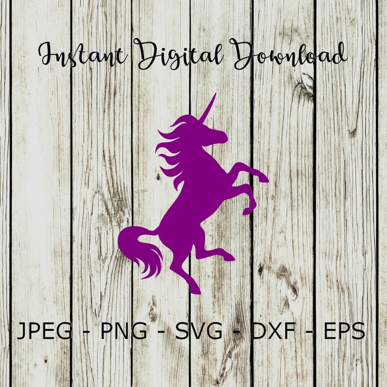 BUY 3 GET 1 FREE  Unicorn Silhouette Mystical Horn Vector Cut File Cricut  Design Decal Stencil Template Heat Iron On Svg,Dxf,Png,Eps