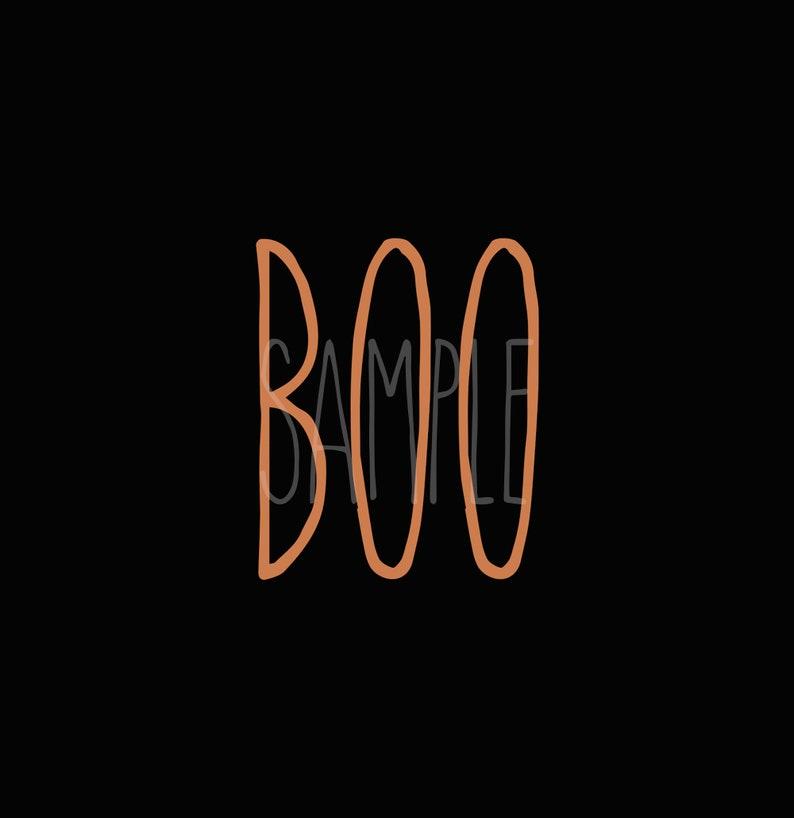 RAE DUNN INSPIRED printable sign Boo Halloween