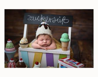 Digital Backdrop Digitaler Hintergrund Newborn Photography Neugeborenen Fotografie Ice Cream Shop Sweet Rainbow Cupcakes
