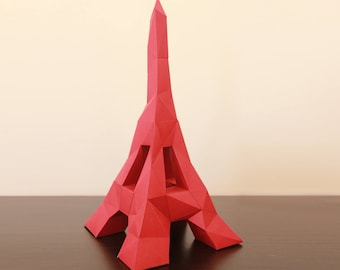 Tower Papercraft, 3D puzzle, Low poly, Papercraft kit