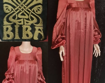 7bf5e9cd41c SOLD SOLD Vintage 60s BIBA, Biba Satin Maxi Dress, Exquisite 60s Vintage  Biba, Biba Dress, 60s Biba Dress, 60s Biba Maxi Dress