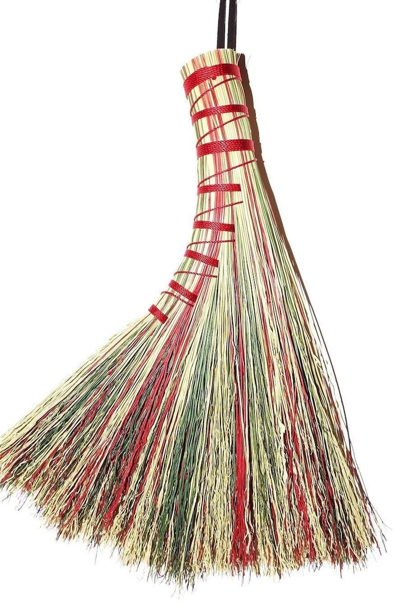 Festive Whisk Brooms Holiday decor Farmhouse Decor wedding Gift  Housewarming dust broom wisk broom