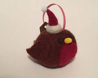 Needle Felt Christmas Robin
