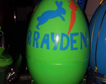 Personalized Empty Easter Eggs
