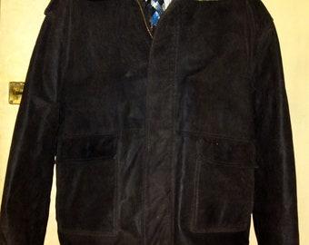 ADRIANO JACOMETTI uomo - G-1 Flight Pilot Brown Leather Winter Bomber Jacket size XL