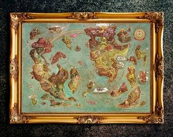 Legend of zelda map | Etsy