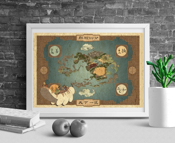 Avatar The Last Airbender map Avatar The Legend of Aang | Etsy