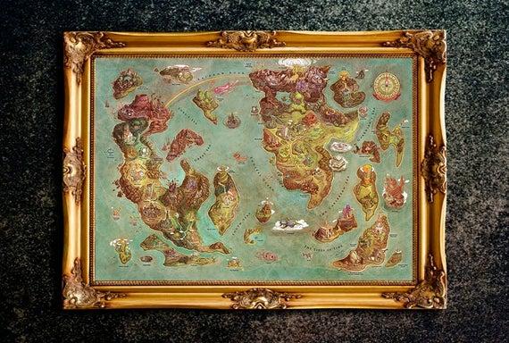 The Legend Of Zelda Kingdom Of Hyrule Map Legend Of Zelda Map The Legend Of Zelda Art The Legend Of Zelda Poster Legend Of Zelda Print