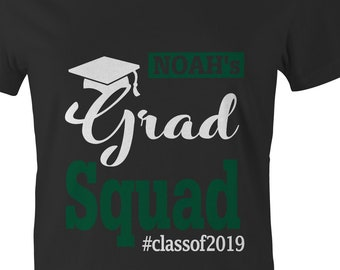 94e87b53 FAMILY GRADUATION SHIRTS Grad School 2019 Class of College Women Men Kid  gift Red Black Maroon Blue Green Orange Purple Glitter Bling Custom