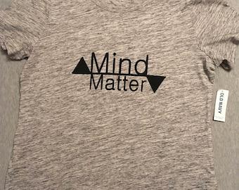 "Heathered Gray Crew Neck ""Mind/Matter"""