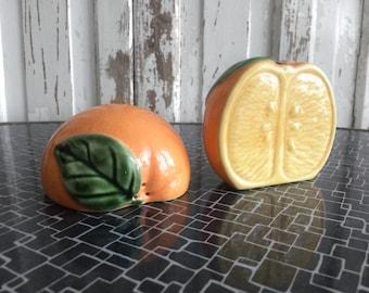 Villeroy & Boch - Salt Pepper Spreader Orange / Vintage salt and pepper shaker orange