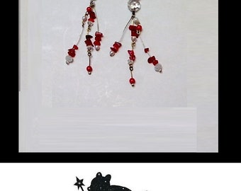 Earrings 1930s crystal red roses Anaïs Nin Movie Star Jewelry
