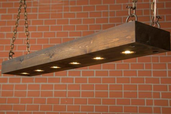 Rustic Lighting Reclaimed Wood Light, Rustic Dining Room Lighting