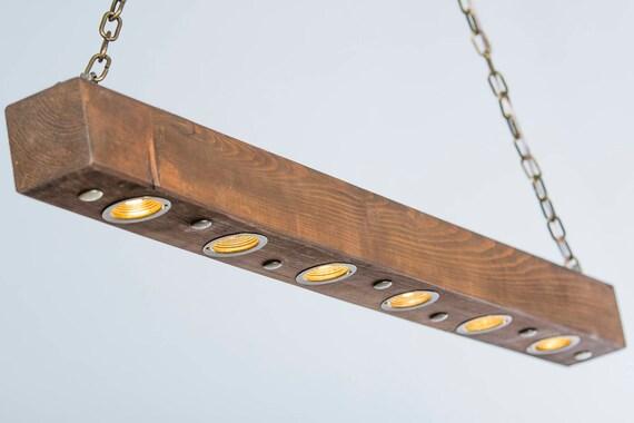 Illuminazione rustica bonificata legno luce fascio di luce etsy